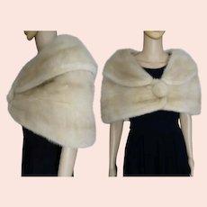 Beautiful Mink Fur Stole / Wrap / Cape / Real Fur / Wedding Fur / Shrug
