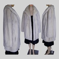 EMBA AZURENE MINK Fur Coat Natural Blue Grey Mink Bust 40""