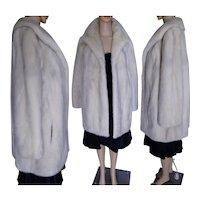 """EMBA AZURENE MINK Fur Coat Natural Blue Grey Mink Bust 40"""""""