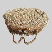 Vintage 1940s French Rhinestone Evening bag by Aux Trois Quartiers Paris