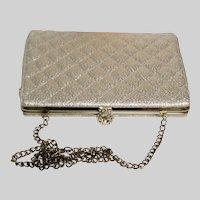 Vintage 1950's Purse Handbag Clutch Gold