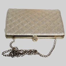 Vintage 1950's Purse Handbag Clutch Gold