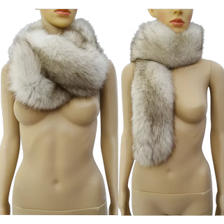 Lavish Vintage Real Fox Fur Collar