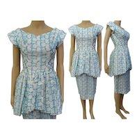 Vintage 50s dress / 1950s dress / party dress / day dress / cocktail dress /