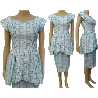 Vintage 50s dress / 1950s dress / party dress / day dress / cocktail dress /