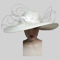 MONUMENTAL Jack McConnell Hat / Tags Attached / Red Feather / Detailed / King of Millinery