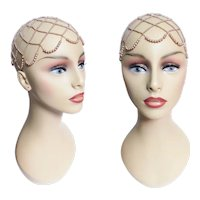 1940s Faux Pearl Head Hat Piece, 40 Vintage Pearl Hat