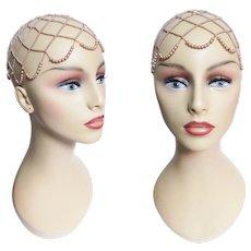 1940s Faux Pearl Head Hat Piece, 40 Vintage Pearl Hat