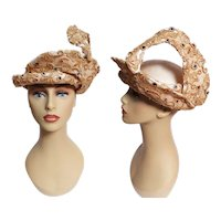 ENCHANTING Jack McConnell Hat, Femme Fatale, Couture, Rare, Collectible, Vintage 1960s