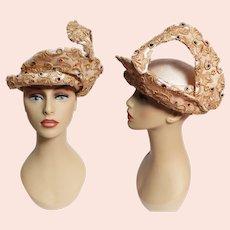 ENCHANTING Jack McConnell Hat, Femme Fatale, Couture, Rare, Collectible, Vintage 1960s