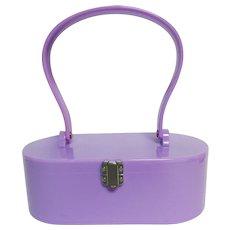 SPECTACULAR Lucite Purse, Lavender Color, Top Handle, Estate Find