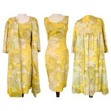 "Vintage 1950s Dress | Matching Swing Coat | New Look | B-36"""