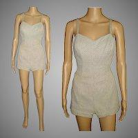 Vintage 1950s Swimsuit  .  50s Jantzen Swimsuit  . 1950s  .  Bathing Suit . Jantzen