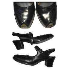 Vintage 1940s Ankle Strap Heels