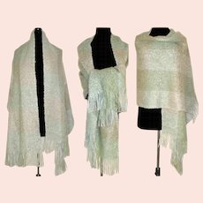 Vintage Shawl Stole Cape Mohair Andrew Stewart