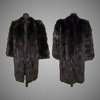 Vintage 1940s Fur Coat . Fur Coat . Canadian Fur . Full Length
