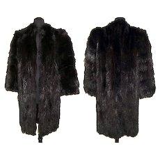 Vintage 1940s Fur Coat . Fur Coat . Canadian Fur . Full Length