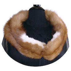 Vintage Mink Collar  .  Plush Real Mink Fur Designer