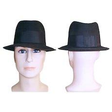 Vintage Fedora Men s Hat . 1950s . 50s Fedora Hat . Dark Gray   Timeless  Traveling Vintage  f75903c8901