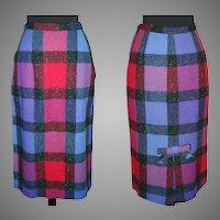 Vintage 1950s Skirt . 50s wiggle skirt . hourglass . mad men . designer . retro . new look . mod