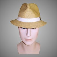 Vintage Men's Hat . Original Panama Jack Hat . 1960s . 60s men's hat . Fedora Hat