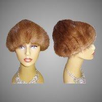 Vintage Mink Hat // Real mink // Sable Mink Hat // 60s mink hat
