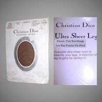 Vintage Hosiery . Christian Dior . 2 Pair . Stockings . Designer . 1960s