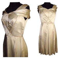 Vintage 1950s Dress . Designer . Jeanne Scott . 50s vintage dress .  Party Dress