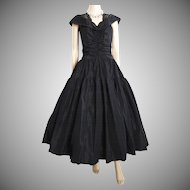 Vintage 1950s Dress//50s Dress//Black// Garden Party//New Look//Mod//Mad Man