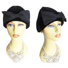 Vintage 1960s Hat// Designer//Oleg Cassini// High Fashion//60s Hat// Couture//Rockabilly//New Look Garden Party