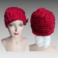 Vintage 1950s Hat// Clothe Hat//50s Hat// Couture//Designer//New Look//Designer/ Garden Party//1920s Style