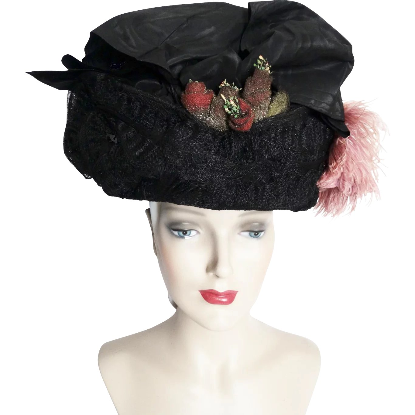 1900s Edwardian Hat  Authentic Antique Hat   1900s Hat   Victorian      Timeless Traveling Vintage  4219f71f149