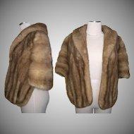 Vintage Mink Stole//60s Mink Stole//Blonde & Brown Mink//Mod//High Fashion//Designer//New Look