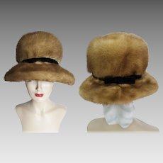Vintage Mink Hat//1960s Mink Hat//1960s Hat//A. Herman Furs//Designer Mink Hat//Couture