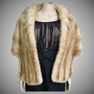 Vintage Mink Stole//60s Mink Stole//EMBA Natural Brown Mink//Autumn Haze//Mod//High Fashion//Designer//New Look