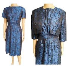 Vintage 1950s Dress//50s Dress//Ben Barrack//Designer//Mod//New Look//Rockabilly//Party Dress//Vivid Colors//Hourglass