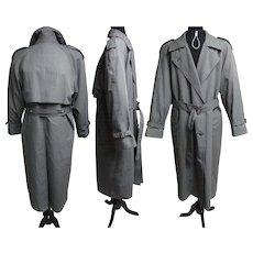 Vintage Men's 1970s Coat//70s Coat//London Fog//Men's Fashion//Removable Liner//Gray//Trench Coat