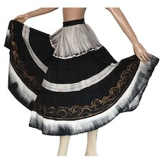 Vintage 1950s Mexican Skirt//Signed by Artist//Full Circle Skirt//50s Skirt//Mexican//Hand Painted//