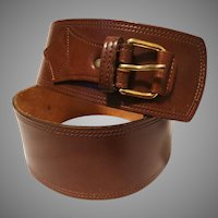 Vintage Leather Belt | Brown | Wide leather Belt | Brown Leather Belt | Leather Belt