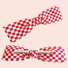 Vintage Men's Bow Tie//Retro//Royal//Rust Resistant//Red//White//Bow Tie//