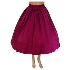 Reserved~~~~~1950s Skirt | Raspberry Skirt | Satin Skirt | Fell Bass Skirt | Vintage 1950s Skirt | Designer Skirt |