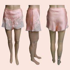 1940s Tap Pants | Rayon Tap Pants | Peach Tap Pants | 40s Tap Pants | Side Button Tap Pants | Vintage 40s Tap Pants