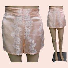 1940s Tap Pants | Crysglo Satin Tap Pants | Trunkettes Tap Pants | 40s Tap Pants | Metal Zipper Closure Tap Pants | Vintage 40s Tap Pants