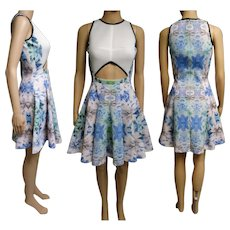 Julia Korel Dress | Designer Dress | Electrifying Print Dress | Floral Dress | Mod Dress | Rockabilly Dress | Printed Scuba |