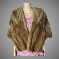 Vintage Mink Stole | 60s Mink Stole | Brown Mink Stole | Designer Mink Stole | Lay Furs Stole | 1960s Mink Stole | Mink Stole