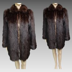 Vintage Fur Coat | Stroller Length Fur Coat | 1940s Fur Coat | 40s Fur Coat | 40s Swing Coat | Winter Fur Coat | Fur Coat |