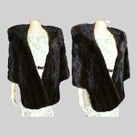 Vintage Mink Stole | BROWN MINK | Oscar E. Loeb Stole | 1960s Mink Stole | 60s Mink Stole | High Fashion | New Look | Mod |