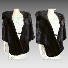 Vintage Mink Stole | BROWN MINK | Oscar E. Loeb Stole | 1960s Mink Stole | 60s Mink Stole | High Fashion | New Look | Mod |