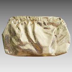 Vintage 1960s Clutch | Vintage Clutch | Gold Clutch | Evening Clutch | Clutch | 60s Clutch | Shoulder Strap Clutch |