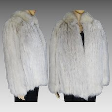Fox Fur Coat | Norway Blue Fox | Fox Fur Jacket | High Fashion | Mod | BLUE FOX | Couture | New Look | Gorgeous Fur Jacket